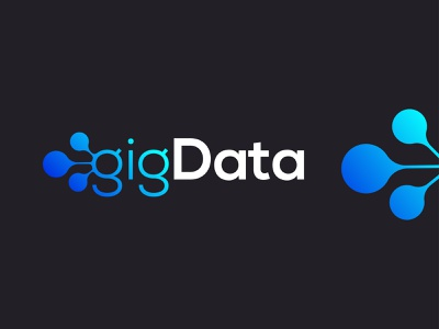 BigData Logo Concept | data, connection, data analytics unused creative logo l o g o l o v e logo design big data large data data analysis daas saas icon data connection data visualization chart graphic analysis logo creation bigdata branding logo conception