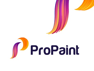 ProPaint Logo Concept | modern letter logo monogram | P logo des a b c d e f g h i j k l m n o p q r s t u v w x y z logodesignlove vector watercolor acrylic painting paint brush grunge abstract playful branding colorful colors paint logo p logo monogram modern logo logo concept paint