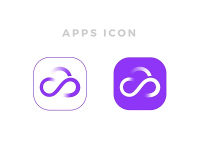 Cloud Infinity | App icon design business solution digitally sign sky storage cloud computing creative logo abstract mark modern color best logos infinity logo logo designer branding infinity web logo tech logo icon designer app icon cloud app cloud logo cloud