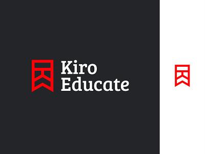 Education Logo Design logo designer branding icon minimal flat logo mark abstract geometry learn teaching letter k online inpetor learning logo learning school study ribbon university logo educational