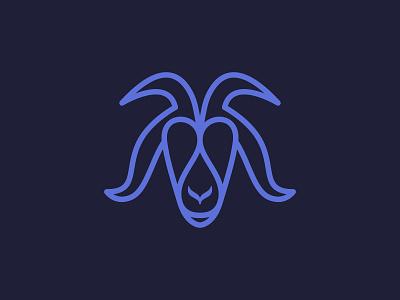 Goat Logo | Symmetrical Design mark lineart ineptor illustration farm original unsued logo for sale premium logo animal logo geometric capricorn gorns sheep ram symmetry symmetrical goat logo goat