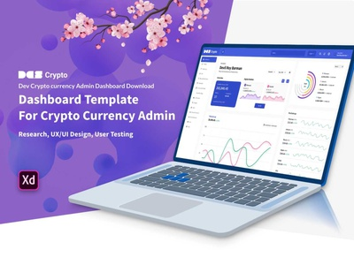 Dev Crypto currency Admin Dashboard Download business blog agency branding ux ui admin currency crypto dashboard interection psd xd design freebies freebie free download devdesign