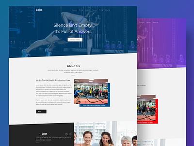 Free Yoga/Gym Landing page ui web ui design web ui ux website design website gym yoga illustrator design minimal adobe xd modern xd dribbble ux design ui design ui