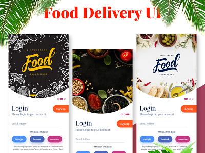 Download Food Delivery App UI food food app delivery app ui ux ux design modern simple design mobile xd design xd app blogger blogging creative news phone premium