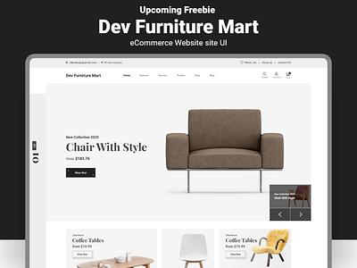 Upcomming Freebie Furniture eCommerce Website UI trendy exclusive corporate graphic ecommerce website furniture free download devdesign xd ux design minimal modern ux design ui