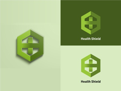 Health Shield Logo Concept shield health app branding minimal flat vector logo illustration icon design
