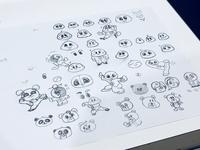 Taichi Baby pencil sketch