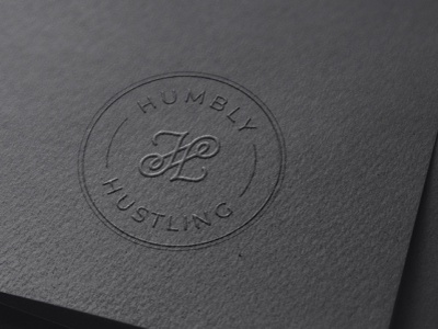 HUMBLY HUSTLING illustration minimal design logo branding