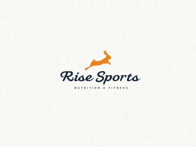 RISE SPORTS illustration minimal logo design branding