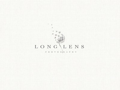 LONG LENS - Photography illustration minimal logo design branding