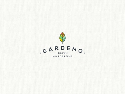 Gardeno illustration minimal design logo branding