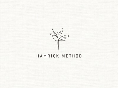 HAMRICK METHOD illustration minimal logo design branding