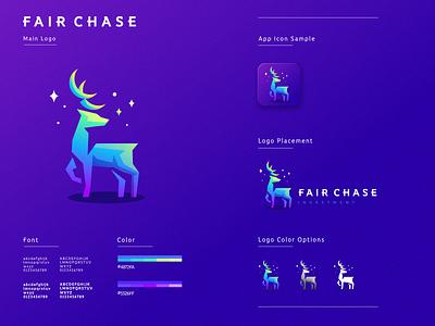 fair chase minimal ux graphic design flat design ui logo icon branding app
