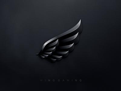 Wing Gaming design flat icon branding ux ui logo app wing gaming wing logo wings wing