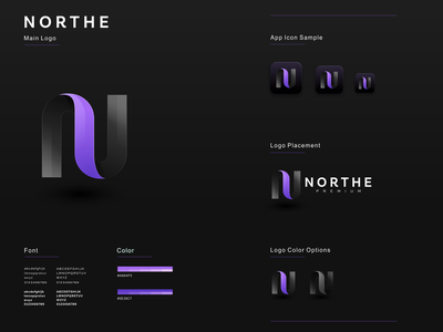 NORTHE illustration graphic design design flat icon branding ux ui logo app