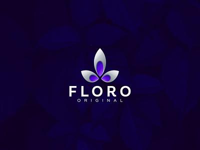 Floro design flat icon branding ux ui logo app floral logo lotus yoga lotus flower