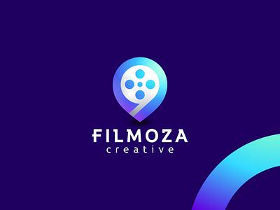 Filmoza graphic design design flat icon branding ux ui logo app films film
