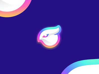 owl design flat icon branding ux ui logo app owl logo color night bird owl