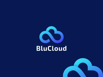 Blue Cloud graphic design design flat icon branding ux ui typography logo app