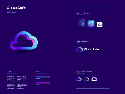 Cloud Safe illustration graphic design design flat icon branding ux ui logo app