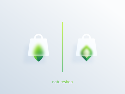 Nature Shop minimal illustration graphic design design flat icon branding ux ui logo app