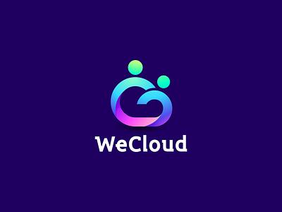 WeClound vector ux illustration design icon branding logo cloud symbol cloud logo