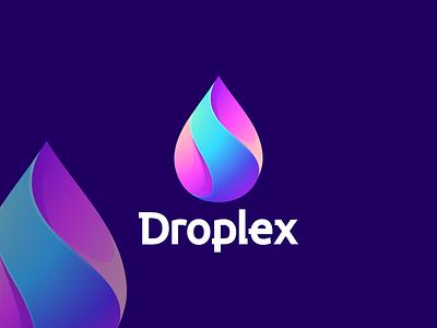 Droplex motion graphics graphic design 3d animation design drop design drop color drop logo