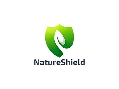 NatureShield logo motion graphics graphic design animation design ux ui icon branding leaf shield logo nature shielf logo