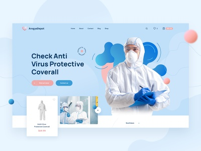 Arogya Depot Covid PPE Kit E-Commerce Website coronavirus covid-19 ppe covid19 ui design web ux