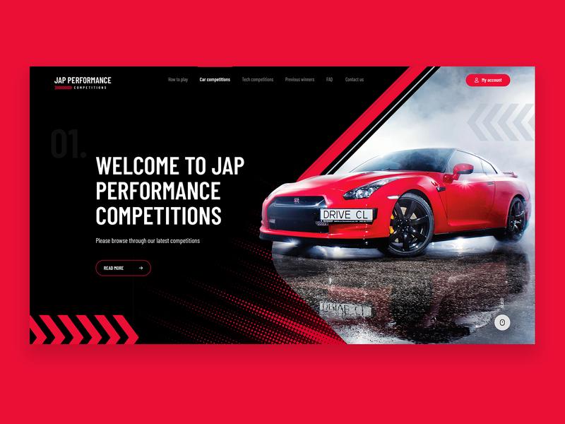 JAP Performance Car Competition Web Design seahawk web webdesign competition performance jap car