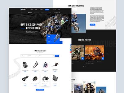 OEM Dirt Bike Parts parts bike ui design ux web