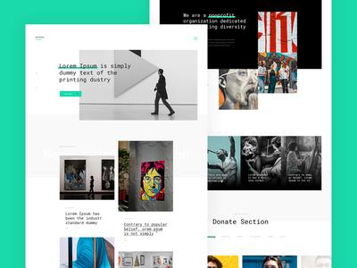 Website for Artists salon