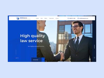 Patent Attorney WordPress Website Design Mockup