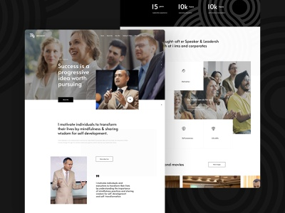 Life and Personal Coach Amit Website Mockup coach ui landin page design web ux