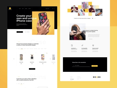 Customised Mobile Case Ecommerce WordPress Web Design Mockup ecommerce case phone ui design web ux