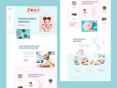 Cake Shop Bakery Web Design Mockup bakery cake ecommerce ui ux design web webdesign