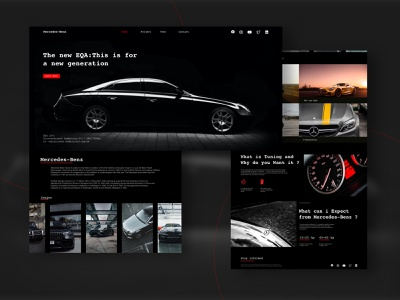 Mercedes-Benz blackandwhite car black theme mercedes-benz branding classic website web ux ui typography minimal design