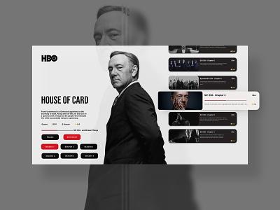 HBO Redesign Website blacktheme black and white season tv series netflix hbo website web ux ui typography minimal design