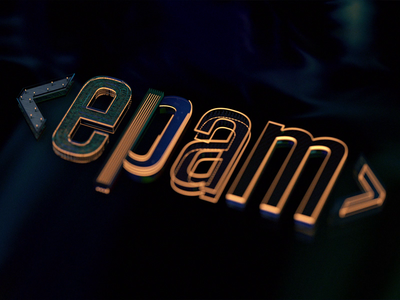 EPAM 3D UNCOVERED high-detail layer motion graphics epam branding logo 3d animation design