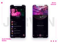 Electronic music app