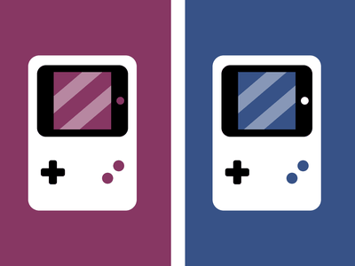 | Gameboys logo derpcreator dual gameboy illustration clean minimal figma vector design