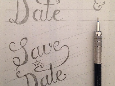 Save The Date wedding save the date lettering hand typography flourish