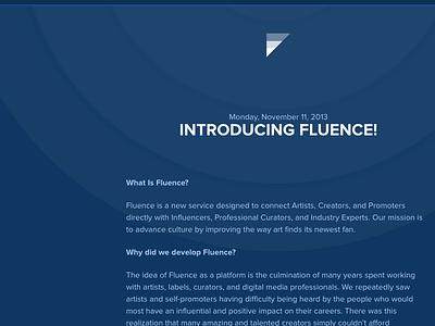 Fluence Blog launch blog