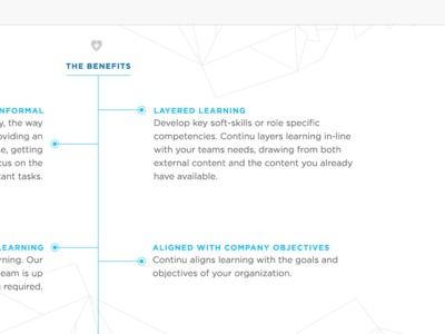 Continu: Benefits