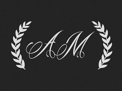 Aileen and Manik, Monogram monogram wedding save the date a m laurel