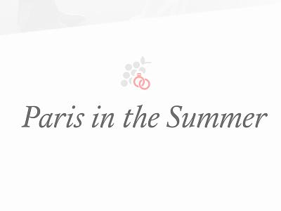 Paris In The Summer wedding site