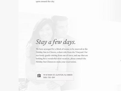 Stay a few days wedding wedding site