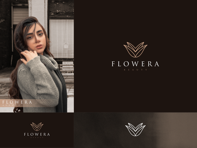 Flowera line art logo design inspirations vector illustration flat typography icon design logo graphic design branding ui