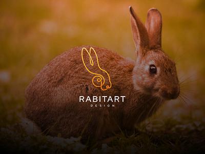 Rabit Line Art typography icon flat design logo graphic design branding rabit rabit luxury rabit design rabit line rabit art