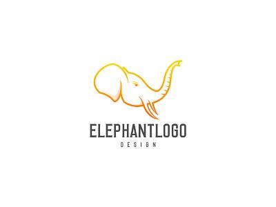ELEPHANT LINE ART design graphic design branding elephant collor elephant cool elephant luxury elephant logo elephant design elephant line art